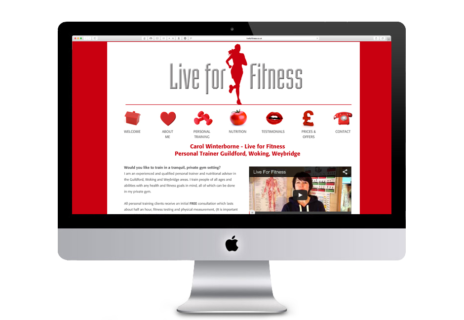 Live for Fitness Web